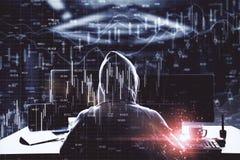 ?conomie et concept de malware illustration stock