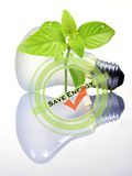 Économiser de l'énergie Images stock