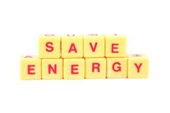 Économiser de l'énergie Image stock