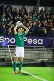 Conor McCarthy under Cork City FC vs den Waterford FC matchen på drejare som är arga för ligan av Irland första uppdelning arkivfoton