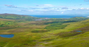The Conor Pass Dingle, County Kerry, Ireland. stock video footage