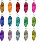 Conos coloridos para el árbol de navidad stock de ilustración