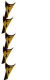 Conos de cobre amarillo o de madera Imagenes de archivo