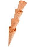 Conos de helado Foto de archivo libre de regalías