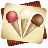 Conos de helado Fotos de archivo
