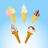 Conos de helado Fotos de archivo libres de regalías