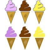 Conos de helado ilustración del vector