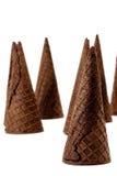 Conos de helado de chocolate Imagen de archivo
