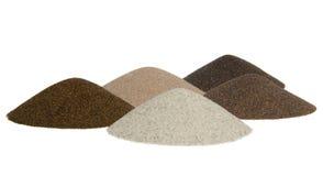 Conos de la arena - minerales de la minería Imagen de archivo libre de regalías