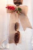 Conos del colgante de la Navidad Imagenes de archivo