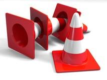 Conos del tráfico Imagen de archivo libre de regalías