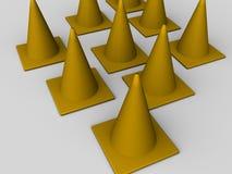 Conos del tráfico Imagenes de archivo