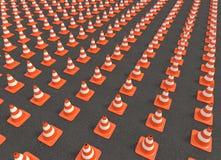 Conos del tráfico Fotografía de archivo