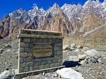 conos famosos de Passu, camino al valle de Shimshal, carretera de Karakoram, Paquistán septentrional foto de archivo libre de regalías