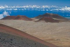 Conos volcánicos foto de archivo libre de regalías