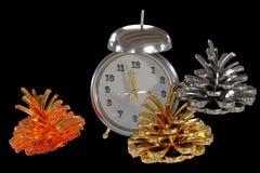 Conos y relojes coloreados Imágenes de archivo libres de regalías