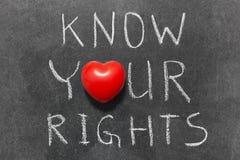 Conosca i vostri diritti Fotografia Stock
