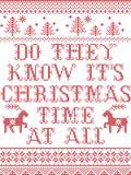 Conoscono il suo tempo di Natale a tutto il modello senza cuciture scandinavo ispirato entro l'inverno festivo della cultura nord royalty illustrazione gratis