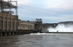 Conowingo floodgates Stock Photo