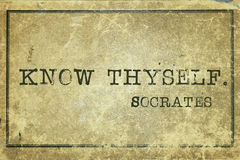 Conozca el thyself Fotos de archivo libres de regalías