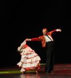 Conquérez une femme comme la danse du monde de l'Autriche taureau-espagnole de flamenco-le Image stock