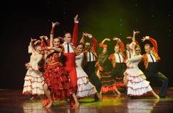 Conquérez une femme comme la danse du monde de l'Autriche taureau-espagnole de flamenco-le Image libre de droits