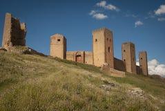Conquête médiévale de château historique d'Aragon Photo stock