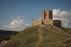 Conquête médiévale de château historique d'Aragon Photographie stock