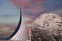 Conquerors of Space Monument, Moscow, Russia Stock Photo
