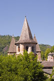 Conques abbey. Stock Images