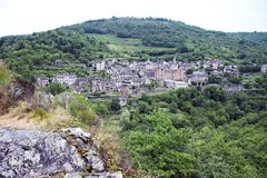 Conques france royaltyfri bild