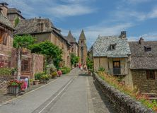 Sainte Foy Cathedral of Conques royalty free stock images