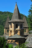 Conques. Tourist attraction in the Aveyron area of Southern France Stock Image