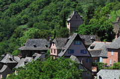 Conques. Tourist attraction in the Aveyron area of Southern France Royalty Free Stock Photography
