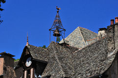 Conques. Tourist attraction in the Aveyron area of Southern France Royalty Free Stock Image