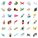 Conquest icons set, isometric style. Conquest icons set. Isometric set of 36 conquest vector icons for web isolated on white background Stock Photo