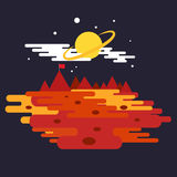 Conquest of space of the Mars.  Space elements. Vector illustration Royalty Free Stock Photos