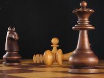 Conquista 2 de la tarjeta de ajedrez Fotografía de archivo