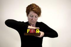 Conquista de miedo Imágenes de archivo libres de regalías