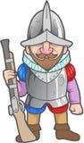 Conquistador ready for feats vector illustration