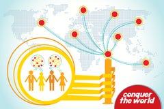 Conquiste o mundo Imagem de Stock