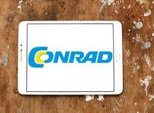 Conrad electronics retailer logo. Logo of Conrad electronics retailer on samsung tablet. Conrad is one of Europe`s leading electronics mail order retailers Royalty Free Stock Image
