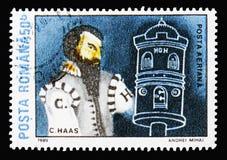 Conrad Haas, στρατιωτικός μηχανικός, διαστημικοί πρωτοπόροι serie, circa 1989 στοκ φωτογραφία με δικαίωμα ελεύθερης χρήσης