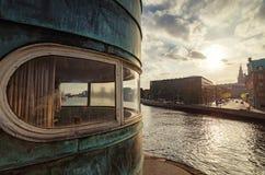 Conrol tower on Torvegade, Copenhagen. Denmark stock photo