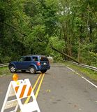 Conséquence d'Irene d'ouragan dans la région de Philadelphie Photos stock