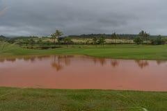 Conséquence d'une tempête de pluie sur Kauai, Hawaï photo libre de droits
