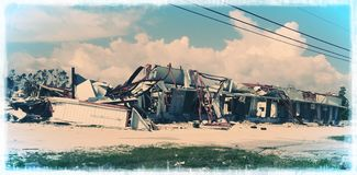 Conséquence de Micheal d'ouragan photographie stock