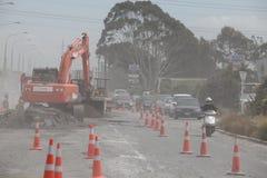 Conséquence de séisme de Christchurch Photos libres de droits
