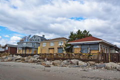 Conséquence de Sandy d'ouragan Images libres de droits