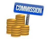 Cons. en het teken van de Commissie stock illustratie